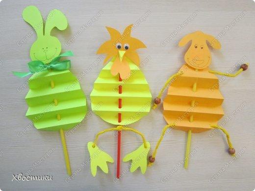 Хочу показать вам, дорогие мастера увлекательный процесс создания вот таких бумажных игрушек-гармошек: фото 31