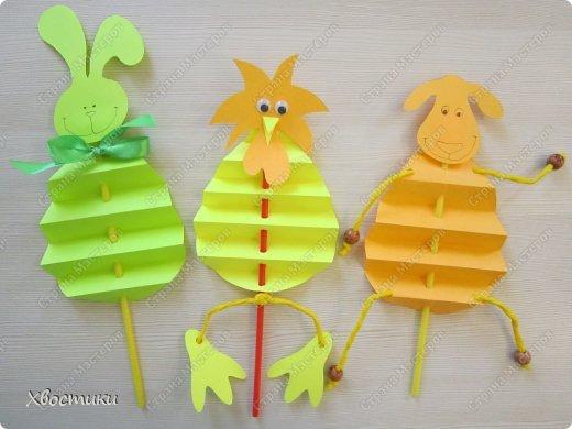 Хочу показать вам, дорогие мастера увлекательный процесс создания вот таких бумажных игрушек-гармошек: фото 1