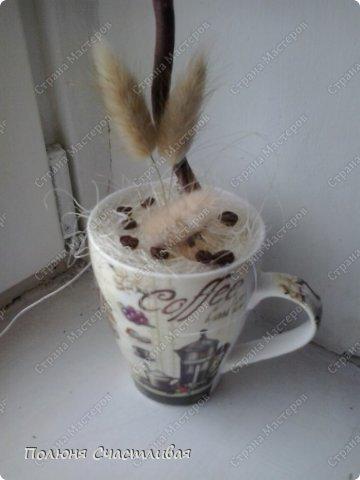 Материалы: кофе,бусинки,бабочка, сухоцветы. фото 3