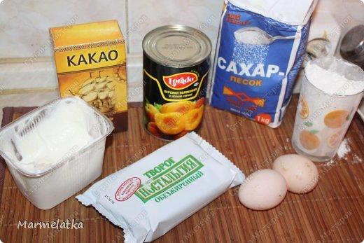 Нежный бисквит, воздушная творожная начинка и сладкие персики. И все это за 30 минут!!! фото 2