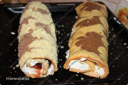 Нежный бисквит, воздушная творожная начинка и сладкие персики. И все это за 30 минут!!! фото 17