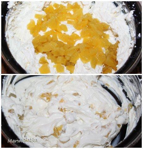 Нежный бисквит, воздушная творожная начинка и сладкие персики. И все это за 30 минут!!! фото 14