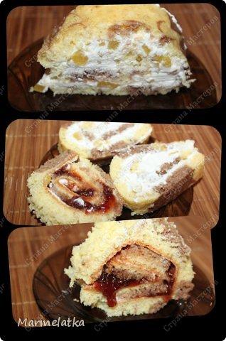 Нежный бисквит, воздушная творожная начинка и сладкие персики. И все это за 30 минут!!! фото 18