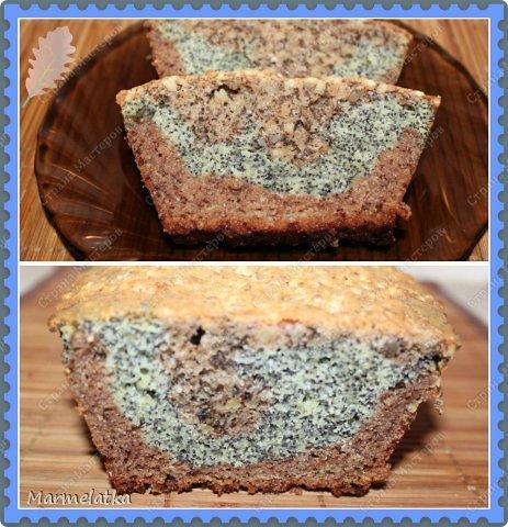 Очень-очень вкусный кекс с тремя видами теста! фото 1