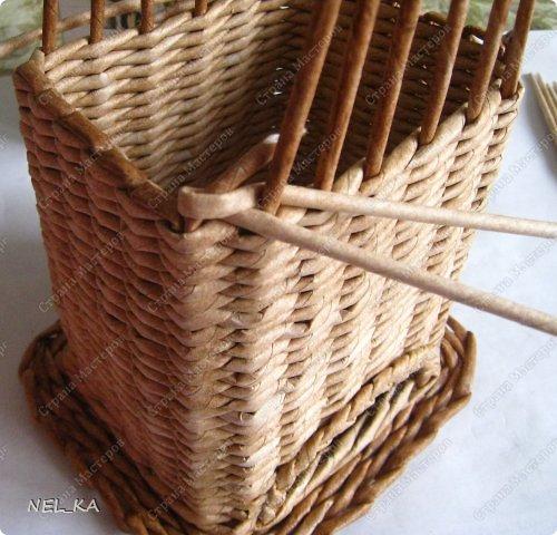 Плетение из газетных трубочек веревочка из трех трубочек мастер класс