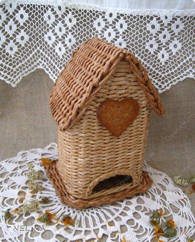 Мастер-класс Плетение Чайный домик Бумага газетная Трубочки бумажные фото 1