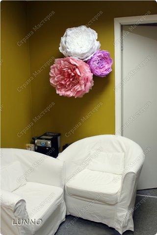 Продолжаю рассказывать вам о создании больших цветов! На этот раз это были пионы :) фото 15