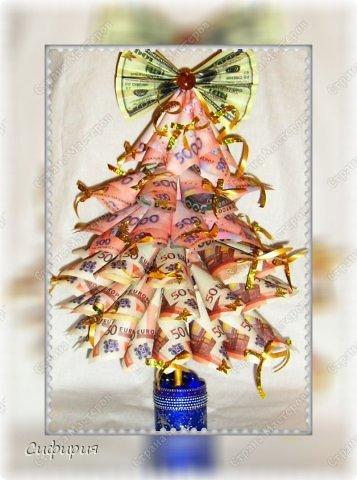 Бонсай топиарий Мастер-класс Новый год Моделирование конструирование Денежная ёлка Бумага Гипс Клей фото 3