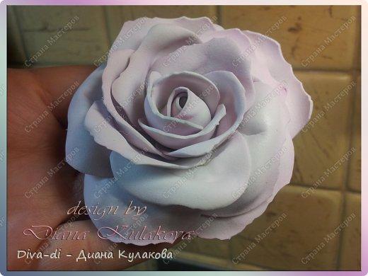 В этом мастер-классе покажу еще один способ, более быстрый - как сделать розу. Быстрота заключается в том, что тонировать лепестки мы будем не по-штучно, а целыми полосами. фото 14