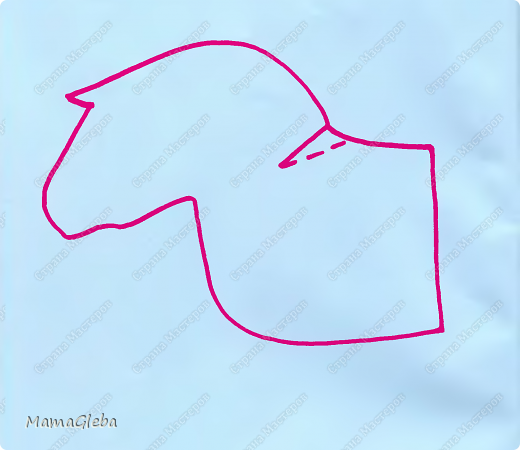 """Приветствую всех жителей СМ! Приближается новый 2014 год! Символом года будет лошадь. Вот её мы и решили сделать с сыном в виде игрушки на новогоднюю ёлку! Идею взяли в замечательном журнале """"Коллекция идей""""! фото 7"""