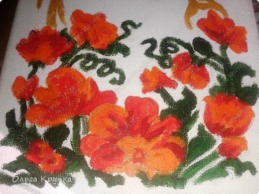 Картина панно рисунок Мастер-класс Новый год Аппликация Рисование и живопись МК инкрустированной картины Лошадка Скромняжка Краска Ткань фото 9