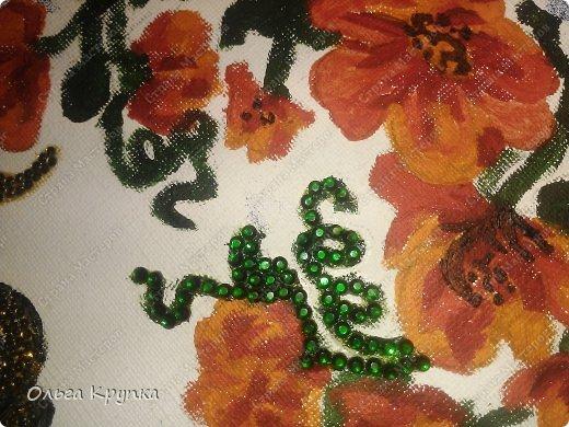 Картина панно рисунок Мастер-класс Новый год Аппликация Рисование и живопись МК инкрустированной картины Лошадка Скромняжка Краска Ткань фото 18