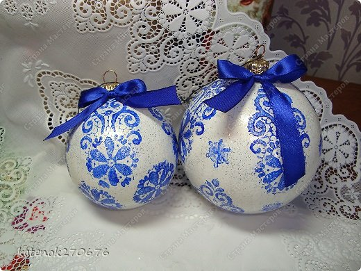 Мастер-класс Новый год Моделирование конструирование Новогодние шарики МК фото 1