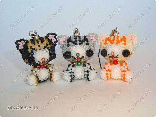 Три котёнка Бисер