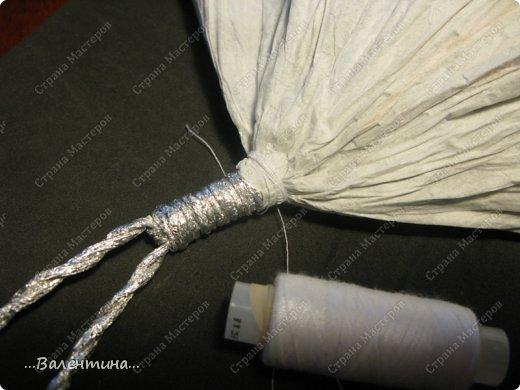 Мастер-класс Поделка изделие Новый год Моделирование конструирование Плетение Новогодняя сказка Салфетки Фольга фото 24