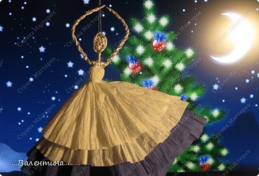 Игрушка Кукольная жизнь Мастер-класс Новый год Моделирование конструирование Плетение Новогодняя сказка Салфетки Фольга фото 1