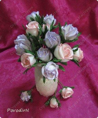 Уникальный материал - фоамиран! Именно из него у меня стали получаться розы. Спешу поделиться своей радостью с вами. Материал новый, МК немного. Еще один МК (от неумехи) не помешает? фото 1