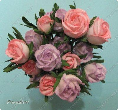 Уникальный материал - фоамиран! Именно из него у меня стали получаться розы. Спешу поделиться своей радостью с вами. Материал новый, МК немного. Еще один МК (от неумехи) не помешает? фото 26