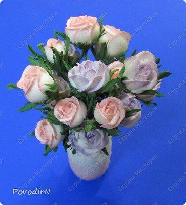 Уникальный материал - фоамиран! Именно из него у меня стали получаться розы. Спешу поделиться своей радостью с вами. Материал новый, МК немного. Еще один МК (от неумехи) не помешает? фото 27