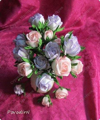 Уникальный материал - фоамиран! Именно из него у меня стали получаться розы. Спешу поделиться своей радостью с вами. Материал новый, МК немного. Еще один МК (от неумехи) не помешает? фото 28