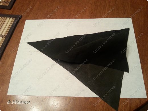 Картина панно рисунок Мастер-класс Ассамбляж Картина из кожи Зонтик с цветами Кожа фото 3
