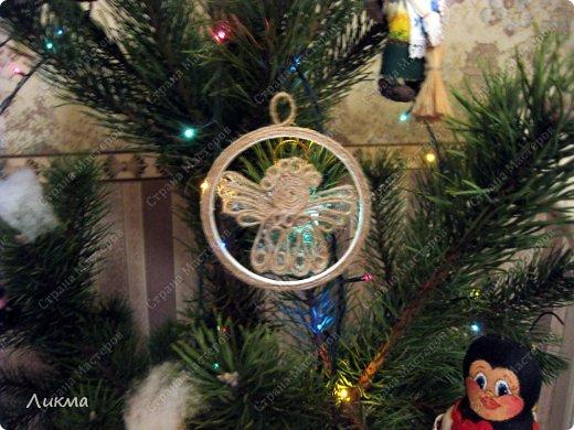 Рождественский ангел из шпагата