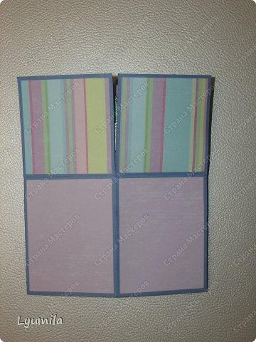 Добрый день! Мы с Лидочкой (моей дочерью 4,5 лет) продолжаем скрапить, вернее занимаемся кардмейкингом, т.е. делаем открытки. Скоро праздник и я в поисках вдохновения просматривала галереи открыток и натолкнулась вот на такие открытки. Они сделаны в технике pop-up, т.е. могут складываться и раскладываться, имеют несколько слоев. фото 5