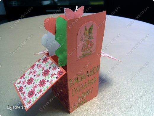 Добрый день! Мы с Лидочкой (моей дочерью 4,5 лет) продолжаем скрапить, вернее занимаемся кардмейкингом, т.е. делаем открытки. Скоро праздник и я в поисках вдохновения просматривала галереи открыток и натолкнулась вот на такие открытки. Они сделаны в технике pop-up, т.е. могут складываться и раскладываться, имеют несколько слоев. фото 10