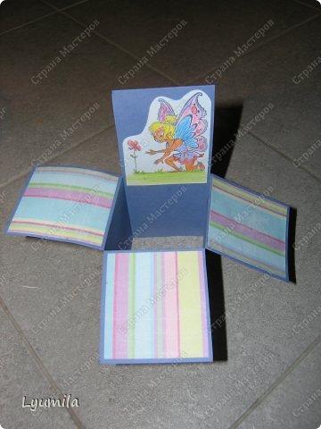 Добрый день! Мы с Лидочкой (моей дочерью 4,5 лет) продолжаем скрапить, вернее занимаемся кардмейкингом, т.е. делаем открытки. Скоро праздник и я в поисках вдохновения просматривала галереи открыток и натолкнулась вот на такие открытки. Они сделаны в технике pop-up, т.е. могут складываться и раскладываться, имеют несколько слоев. фото 20