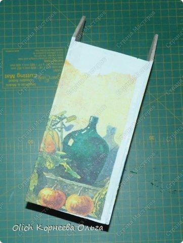 Декор предметов Мастер-класс Декупаж Чайный домик с деревянной крышей Дерево Клей Краска Салфетки фото 10