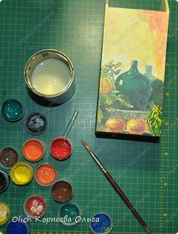 Декор предметов Мастер-класс Декупаж Чайный домик с деревянной крышей Дерево Клей Краска Салфетки фото 11