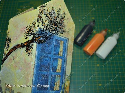 Декор предметов Мастер-класс Декупаж Чайный домик с деревянной крышей Дерево Клей Краска Салфетки фото 12