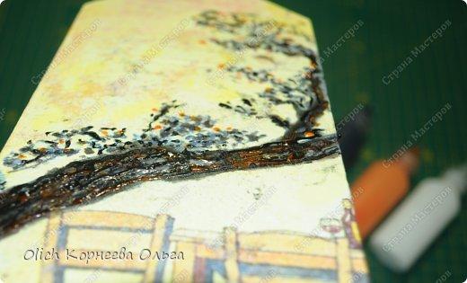 Декор предметов Мастер-класс Декупаж Чайный домик с деревянной крышей Дерево Клей Краска Салфетки фото 13
