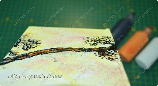 Декор предметов Мастер-класс Декупаж Чайный домик с деревянной крышей Дерево Клей Краска Салфетки фото 14