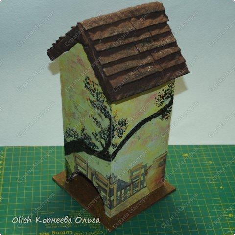 Декор предметов Мастер-класс Декупаж Чайный домик с деревянной крышей Дерево Клей Краска Салфетки фото 20