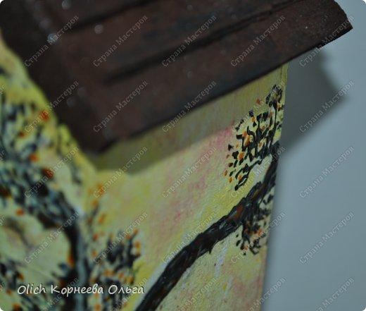 Декор предметов Мастер-класс Декупаж Чайный домик с деревянной крышей Дерево Клей Краска Салфетки фото 5