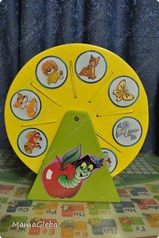 Попросили в детский сад сделать что-то для хранения карточек с дидактическими играми, но просто коробочка не устраивала.Нужно, чтобы двигалось, открывалось и т.д. Мы с мужем изломали головы. И вот, что получилось в результате нескольких дней  (вечеров) работы. фото 2