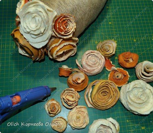 Мастер-класс Поделка изделие Моделирование конструирование Ежик в апельсиновых розах Бумага газетная Клей Кофе Материал природный Продукты пищевые Шпагат фото 10