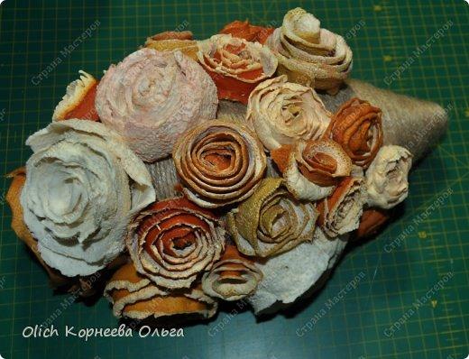 Мастер-класс Поделка изделие Моделирование конструирование Ежик в апельсиновых розах Бумага газетная Клей Кофе Материал природный Продукты пищевые Шпагат фото 11