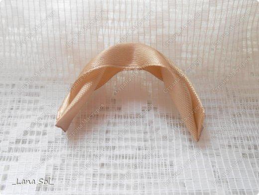 Мастер-класс Украшение Цумами Канзаши МК лепесточка и вариант его применения Ленты фото 8