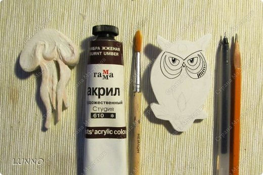 Мастер-класс Украшение Роспись Чудо-броши своими руками Картон Клей Краска фото 5