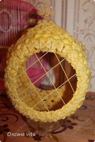 пасхально яйцо из макарон в собранном виде фото 12