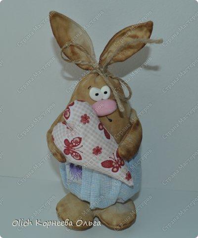 Игрушка Мастер-класс Пасха Лепка Шитьё Пасхальные кролики Кофе Нитки Ткань Фарфор холодный Фетр Шпагат фото 2
