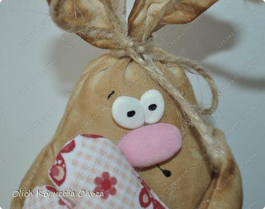 Игрушка Мастер-класс Пасха Лепка Шитьё Пасхальные кролики Кофе Нитки Ткань Фарфор холодный Фетр Шпагат фото 4