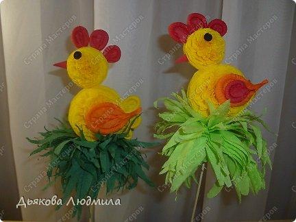 Мастер-класс Поделка изделие Пасха МК Пасхальный цыплёнок из бумажных салфеток Салфетки фото 1