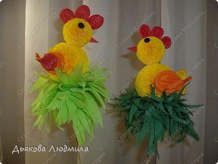Мастер-класс Поделка изделие Пасха МК Пасхальный цыплёнок из бумажных салфеток Салфетки фото 2