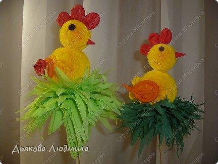 Мастер-класс Поделка изделие Пасха МК Пасхальный цыплёнок из бумажных салфеток Клей Салфетки фото 4