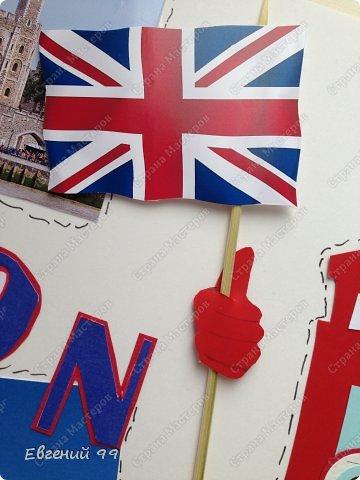 Думаю, что вы понимаете, что опять отстаиваю честь класса:) У нас неделя иностранного языка. Я изучаю английский. Тема стенгазеты на выбор. Думал долго, но остановился на этой. Лондон. Размер А2( ватман), распечатки, цветная бумага. фото 5