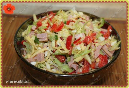 Добрый вечер! Сегодня я к Вам с салатиком. Не знаю на сколько он Берлинский, рецепт нашла в интернете, но он очень яркий, сочный и вкусный!! Попробуйте)) фото 1