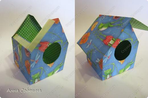 Мастер-класс к Пасхе! Пасхальный домик из бумаги. У домика открывается крыша, внутрь можно положить яйцо или любой другой подарок.  А теперь давайте научимся делать такой сувенир сами! фото 8